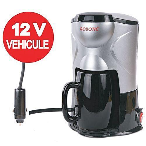 robotic cafeti re electrique 12v pour voiture pygma gris noir acheter en ligne jumia. Black Bedroom Furniture Sets. Home Design Ideas