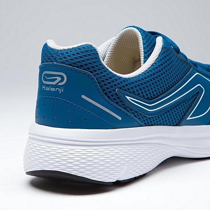 96866ff61 Decathlon Chaussure Jogging Homme Run Cushion - Bleu Petrole Kalenji ...