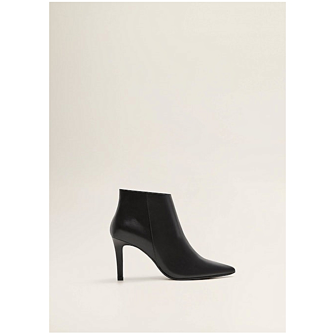 e7901e3fbbbc8 Mango Boots Femme - En Cuir - Noir - Prix pas cher   Jumia DZ