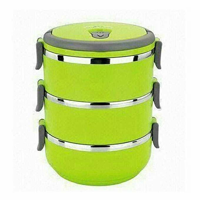 sans marque lunch box 3 compartiments vert au alg rie prix pas cher jumia alg rie. Black Bedroom Furniture Sets. Home Design Ideas