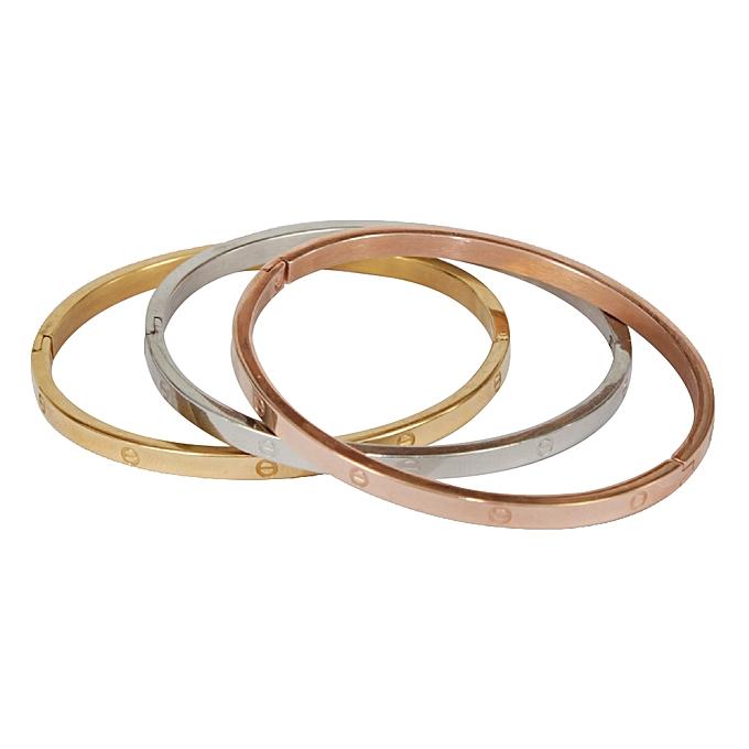 05e30c124d6 Sans Marque Bracelet Femme - Trinity - Gold Silver Bronze - Prix pas ...