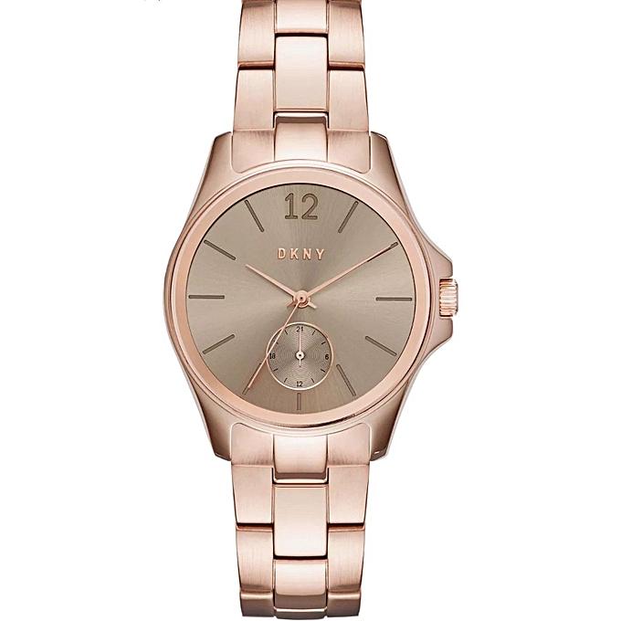 35d8528da4933b DKNY Montre Femme - NY2518 - Acier Inoxydable - Rose - Prix pas cher ...