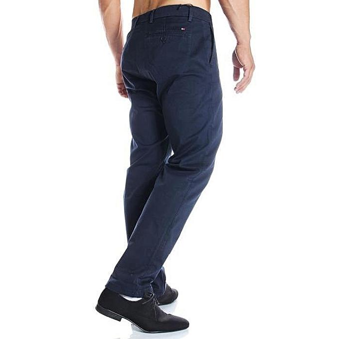 pantalon mercer chino org glac pour homme bleu marine. Black Bedroom Furniture Sets. Home Design Ideas