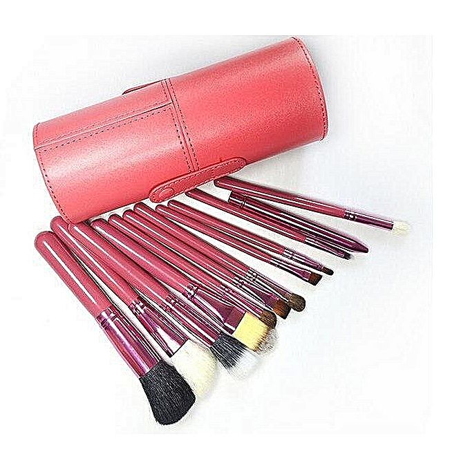 kit de 12 pinceaux de maquillage boite de rangement noir jumia alg rie. Black Bedroom Furniture Sets. Home Design Ideas