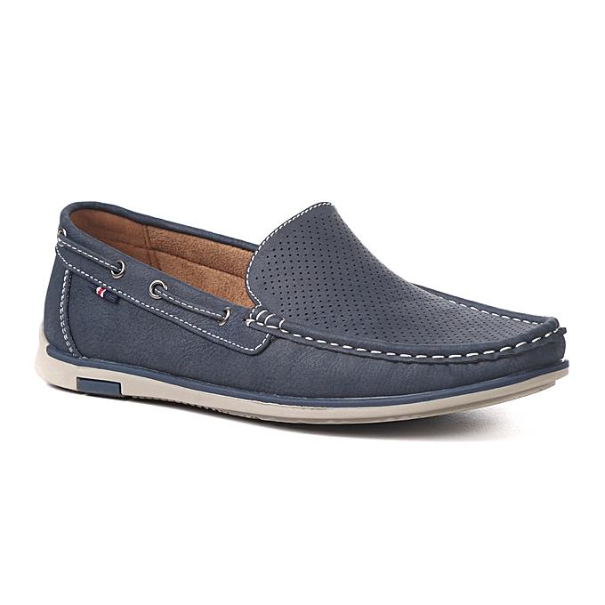 plus près de bonne vente de chaussures choisir authentique Mocassin Homme Souple- Bleu