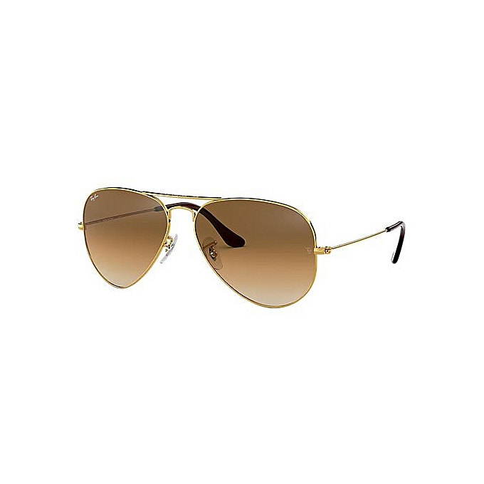 ad0810276f Ray Ban Lunettes De Soleil Unisexe - Or RB3025 - Aviator - Marron ...