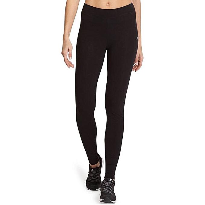 Decathlon Legging Fit + 500 - Slim Gym   Pilates Femme - Noir - Prix ... ada66d7ab2f