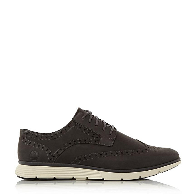 Chaussure style Baskets Homme Brogue Style Trainer Gris