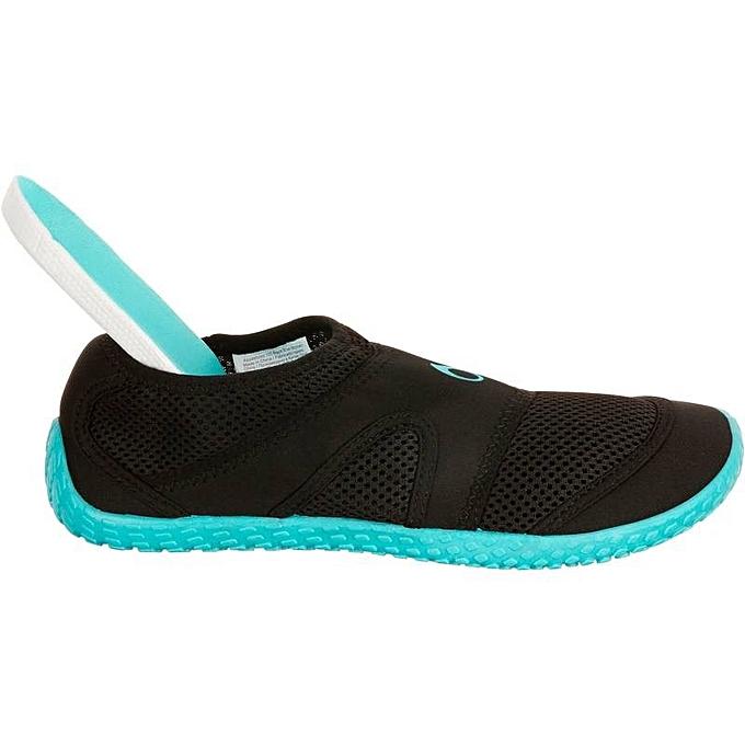 f180eee2e1643 Decathlon Chaussure Femme Aquatique - Noir   Bleu - Prix pas cher ...