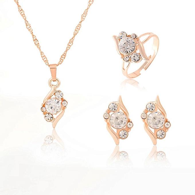 dd762569f5655 Sans Marque Parure Femme - Plaqué Or Cristal - Prix pas cher   Jumia DZ