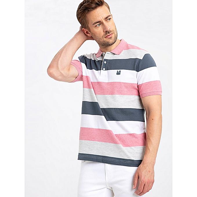 Stripe En Coton Polo Homme Multi zVqMpGLSU