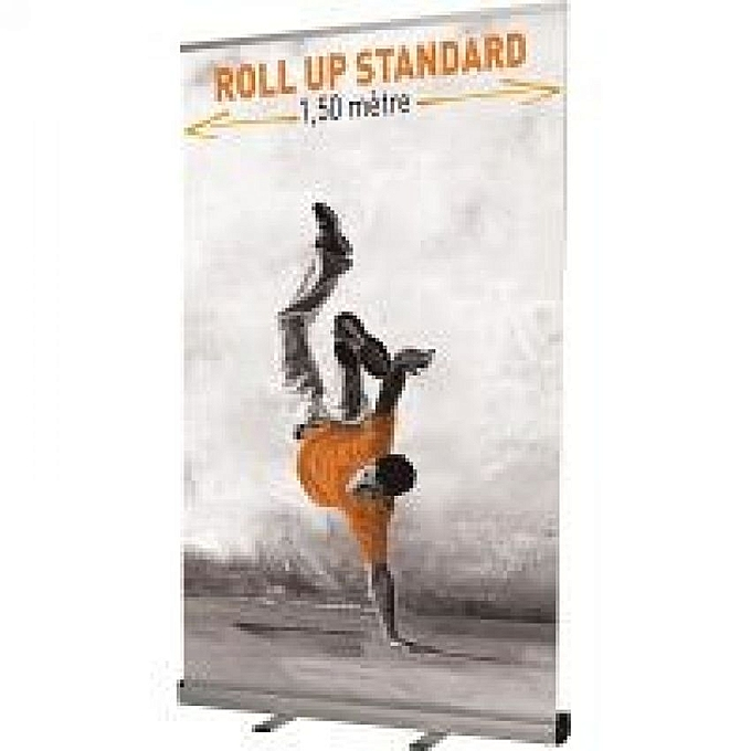 Banner up 150 x 206 cm avec impression et sac de transport 81118