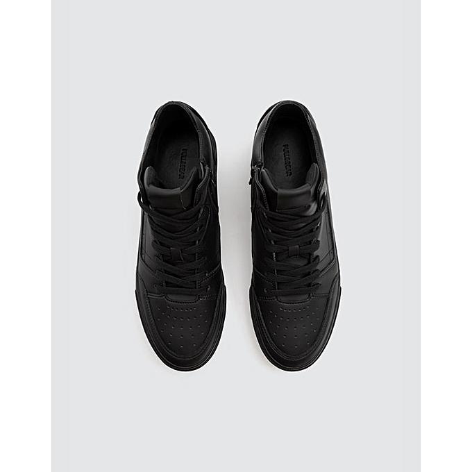 pull bear chaussure homme montantes noir prix pas cher. Black Bedroom Furniture Sets. Home Design Ideas
