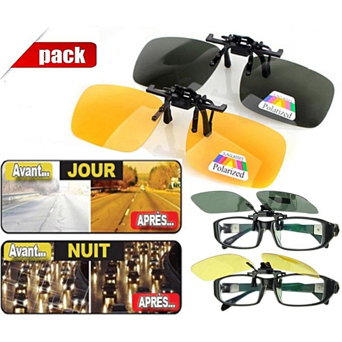 d414a1d703069 Sans Marque Pack - 2 Appliques Polarisées - Jour   Nuit - Anti ...