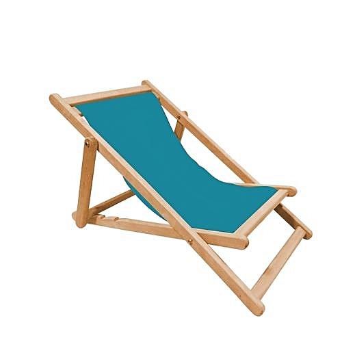 M tis ateliers chaise longue pliable en h tre et toile bleu prix pas cher jumia dz - Chaise longue en bois et toile ...