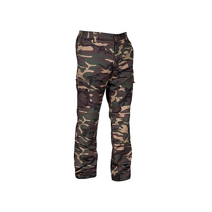 9b510b5ad1c Decathlon Pantalon Homme - Camouflage 05 Poches - Vert Militaire ...