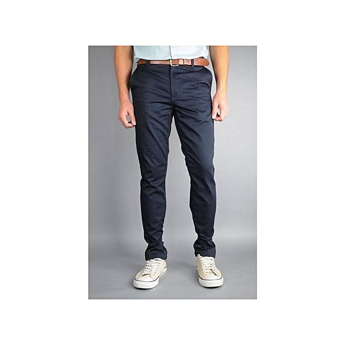 e3eb7e98970ec Abercrombie   Fitch Pantalon Homme - Chino - Bleu Nuit - Prix pas ...