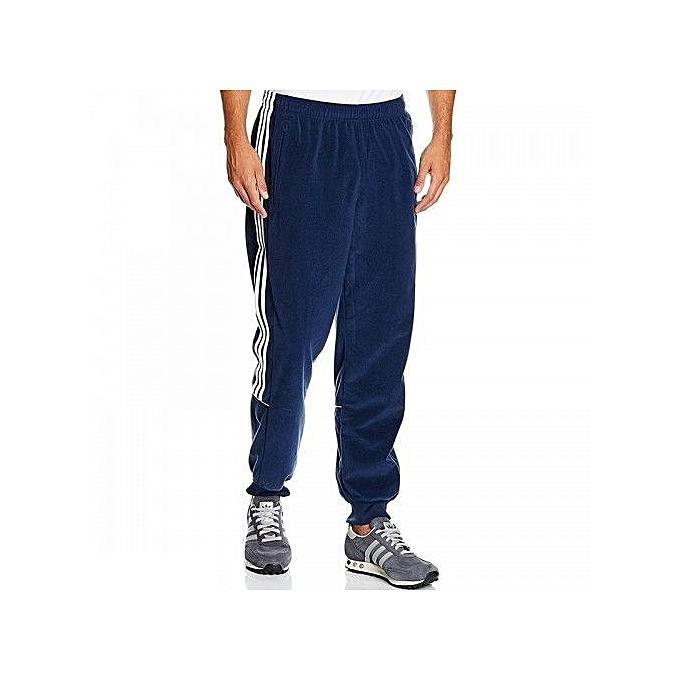 adidas pantalon bleu homme