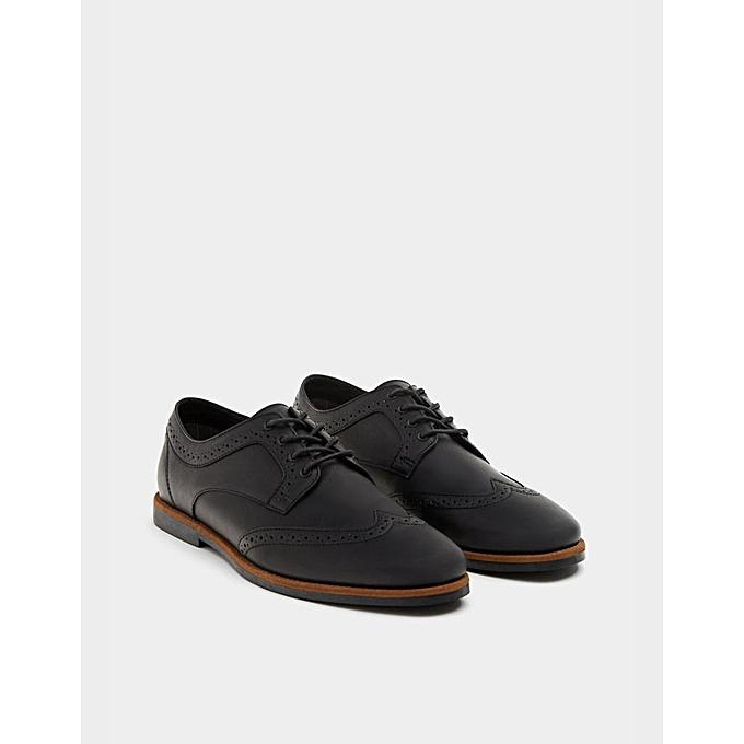 7b8707afa09 Pull Bear Chaussures Homme - Semi Classique - Noir - Prix pas cher ...