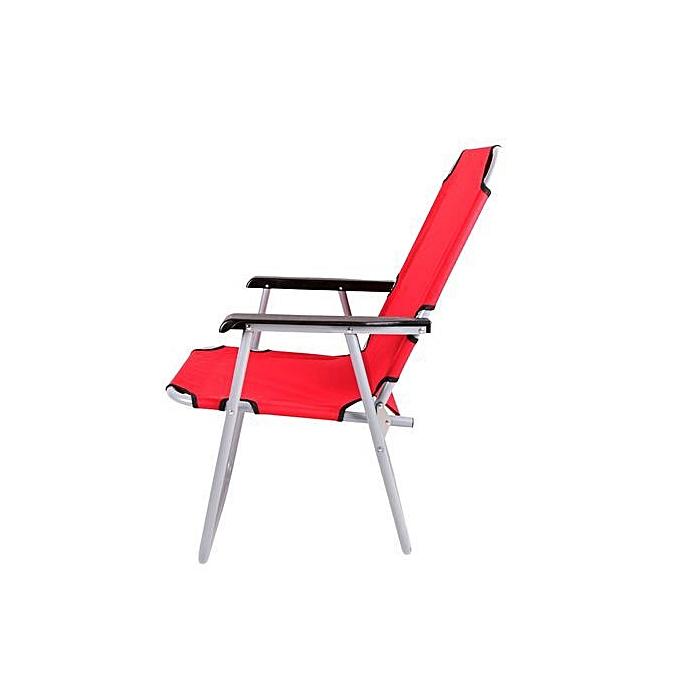 Sans Marque Chaise Longue Pliable - Grand Modèle - Rouge ...