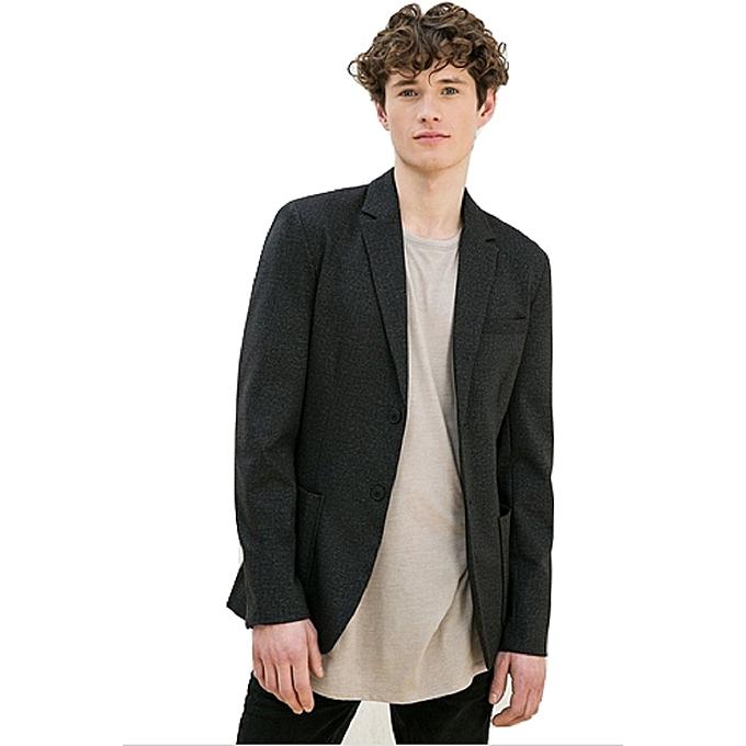 veste blazer homme deux boutons tissu lastiqu 6030 406 gris jumia alg rie. Black Bedroom Furniture Sets. Home Design Ideas