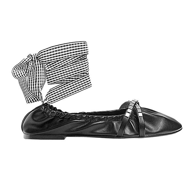 571e0a42851e99 stradivarius Ballerine Femme - En Cuir - Noir - Prix pas cher | Jumia DZ