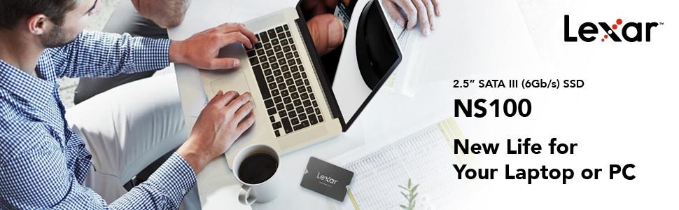 Image avec NS100 sur le texte de bureau une nouvelle vie pour votre ordinateur portable ou votre PC