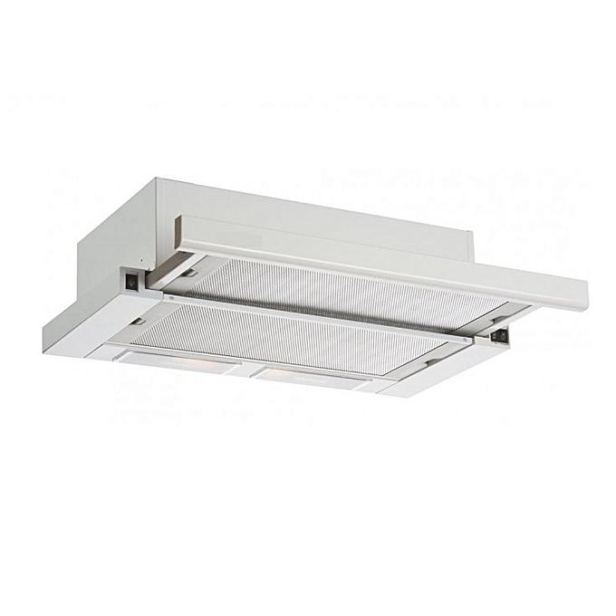 Hotte de cuisine encastrable a tiroir 1390 lx blanc for Hotte aspirante moteur exterieur
