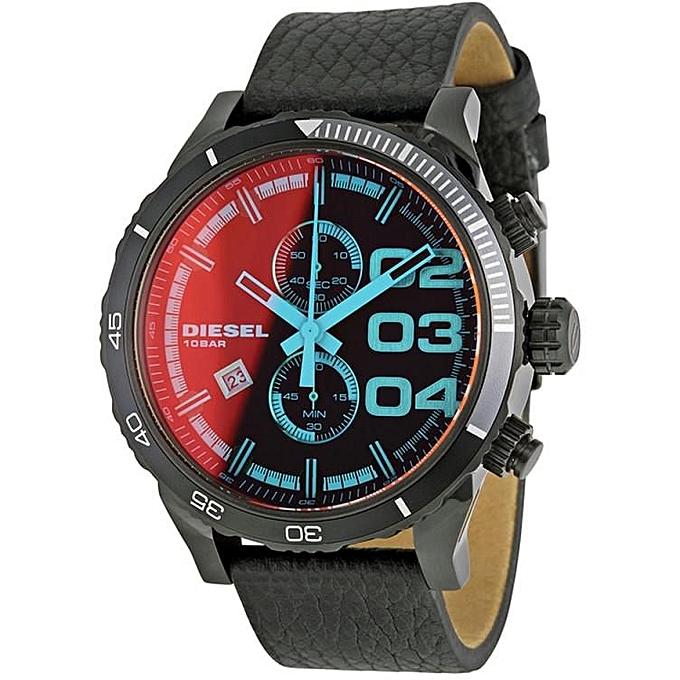d24965f9dab8 Diesel Montre Homme - DZ4311 - Acier Inoxydable - Bracelet Cuir ...