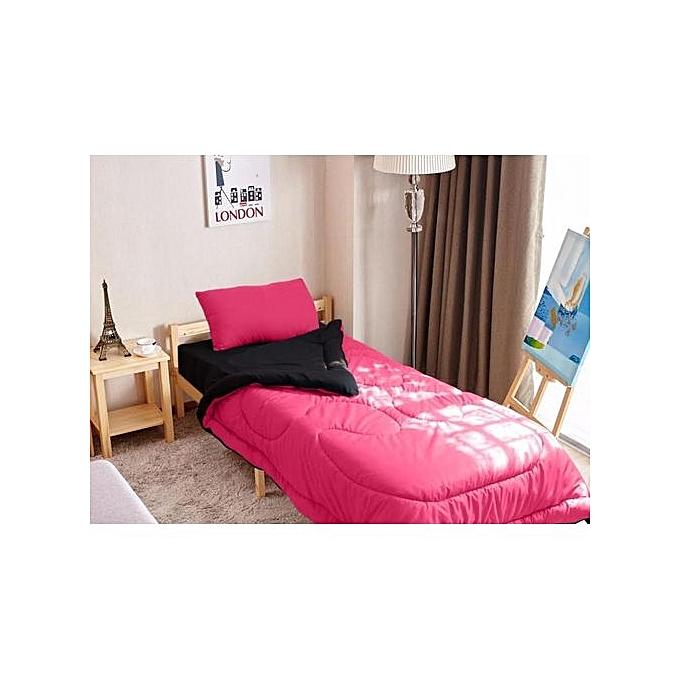 mimoza couette une place double faces 2 pi ces rose noir au alg rie prix pas cher. Black Bedroom Furniture Sets. Home Design Ideas