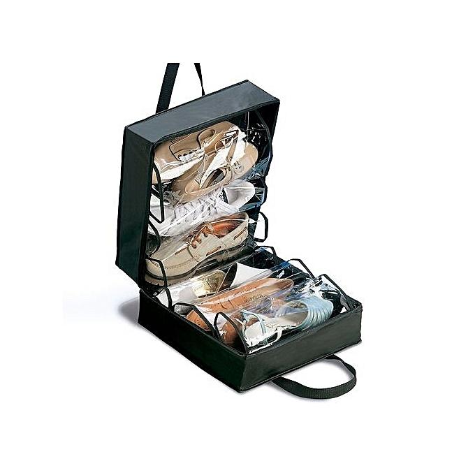 sans marque sac de rangement de chaussure 6 compartiments noir au alg rie prix pas cher. Black Bedroom Furniture Sets. Home Design Ideas