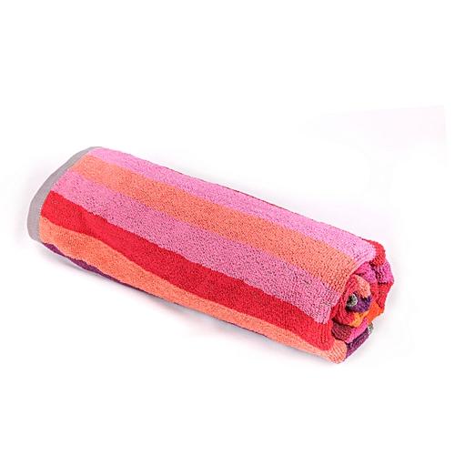 serviette de bain et plage rayure multicolore