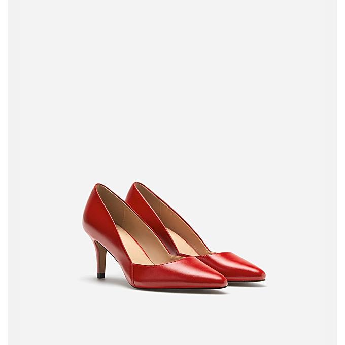 06f194690a3 Lefties Chaussures Femme - A Talon - Rouge - Prix pas cher