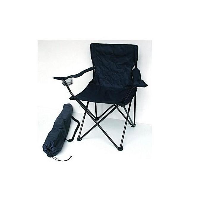 labelle chaise de plage et camping pliante 2972 noir. Black Bedroom Furniture Sets. Home Design Ideas