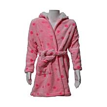 Peignoir Doux   Robe De Chambre à Capuche   Rose