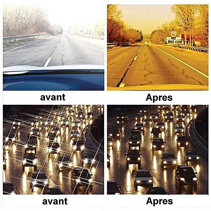ea5eef2c4ca55 Sans Marque Pack - 2 Appliques Sur-Lunettes Polarisées - Jour + Nuit ...
