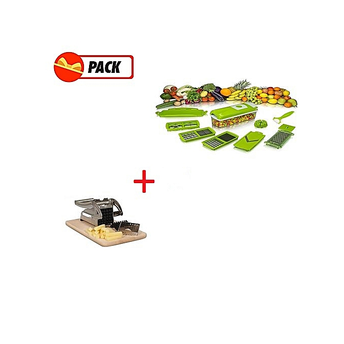Sans marque pack promo nicer dicer d coupe l gumes coupe pomme de terre inox prix pas - Nicer dicer coupe legumes ...