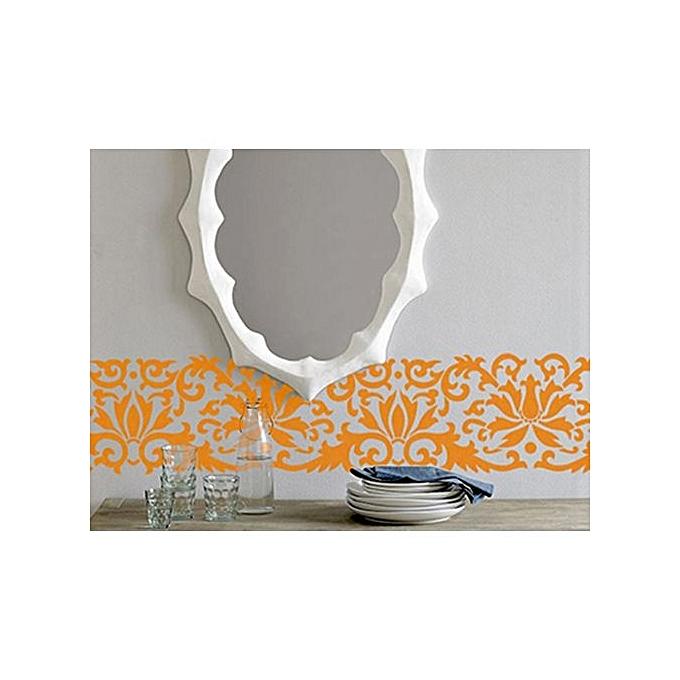 Pochoir d coratif mural frise ms08 jumia alg rie for Changer un interrupteur mural