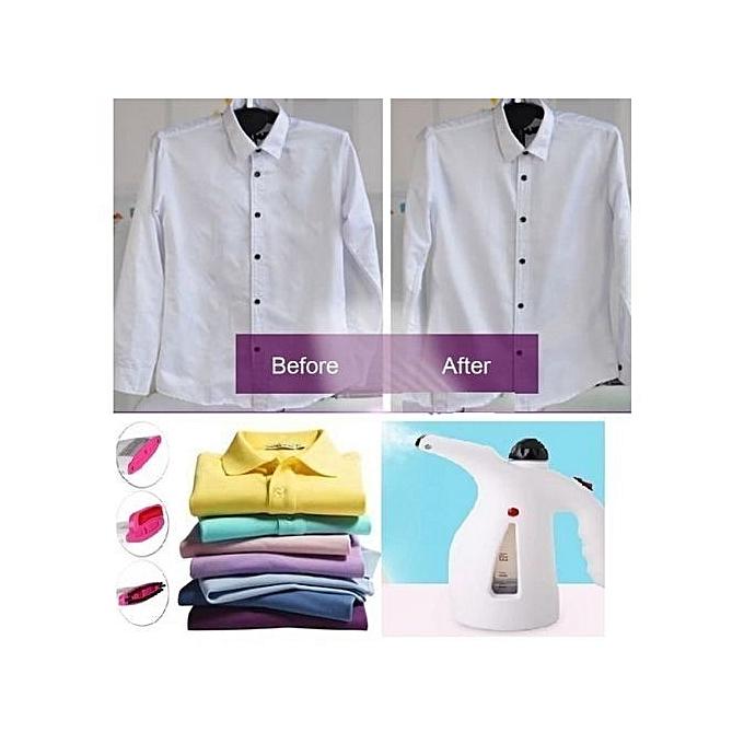sans marque defroisseur vapeur fer repasser portable blanc violet prix pas cher jumia dz. Black Bedroom Furniture Sets. Home Design Ideas