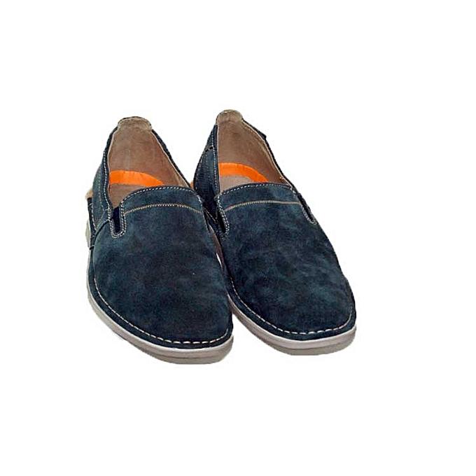 Homme Souple Chaussure Kangourou Marque Bleu Sans Cuirdaim He9DY2WEI