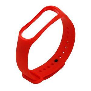Bracelet Pour Mi Band 3 et 4 - Rouge