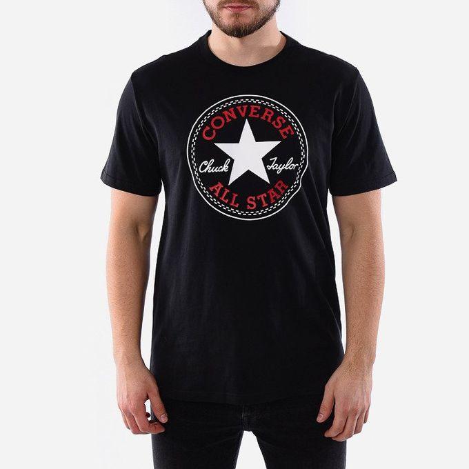 converse t-shirt homme noir