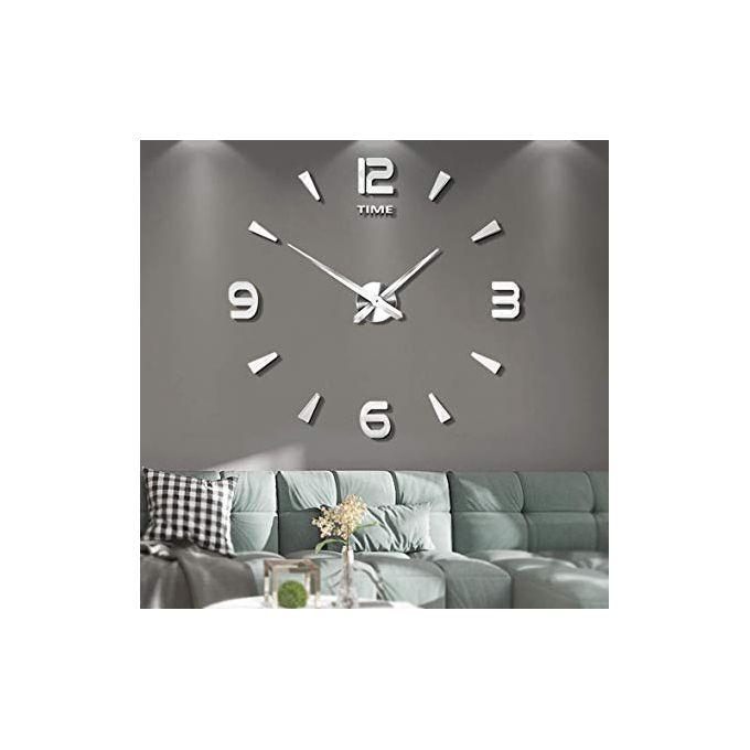 Horloge Murale DESIGN 3D - ARGENT