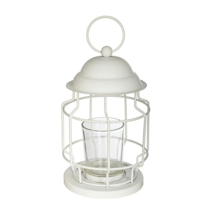 Lanterne Bougie Chandelier Bougeoir Blanc