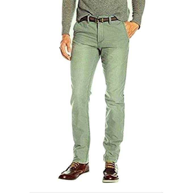 preview of classic style latest design Pantalon Homme en Toile avec Ceinture 112945 Slim Fit - Vert Olive