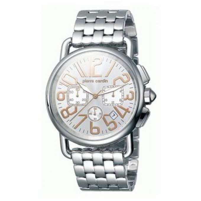 save off new high quality cute cheap Montre Hommes - Pc069201007 - Revue Chrono - Acier Inoxydable - Argenté