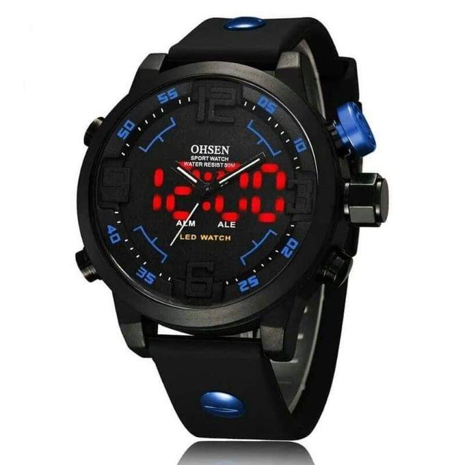 Qualité supérieure f793f 1769f Montre Sport Homme - AS20 AD2820 - Étanche - Noir - Bleu