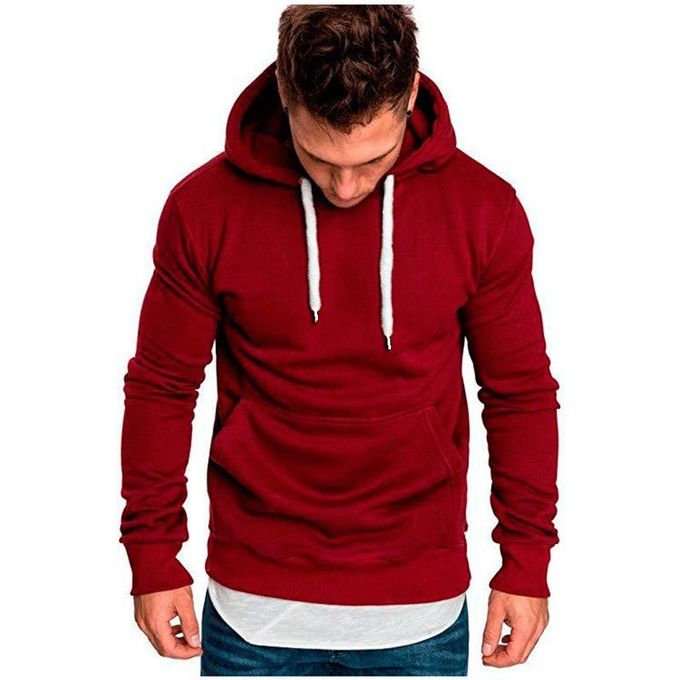 Hooded Sweat Shirt Homme A Capuche Grenat