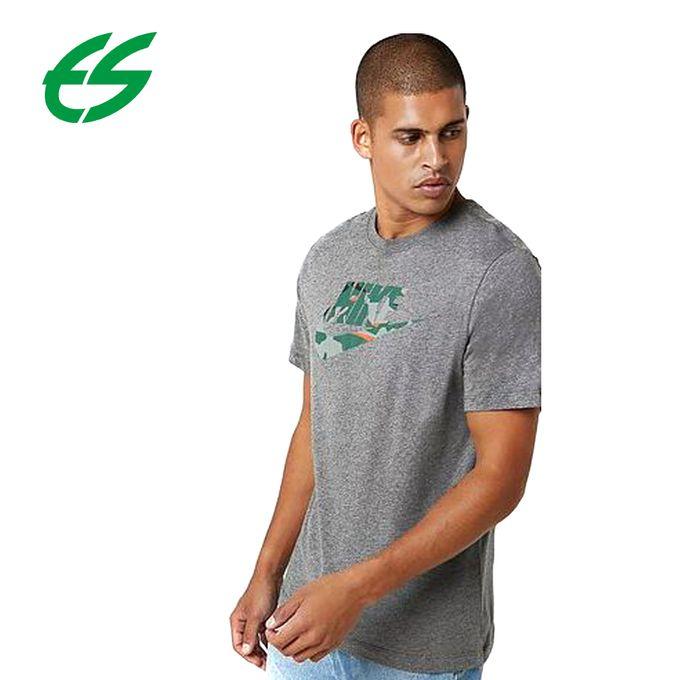 Nike T-Shirt Homme - M NSW TEE CAMO 1 - Gris