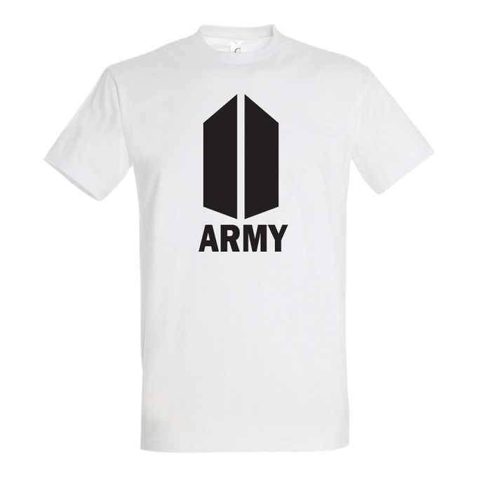 Sol's T-Shirt Homme - Army- Blanc